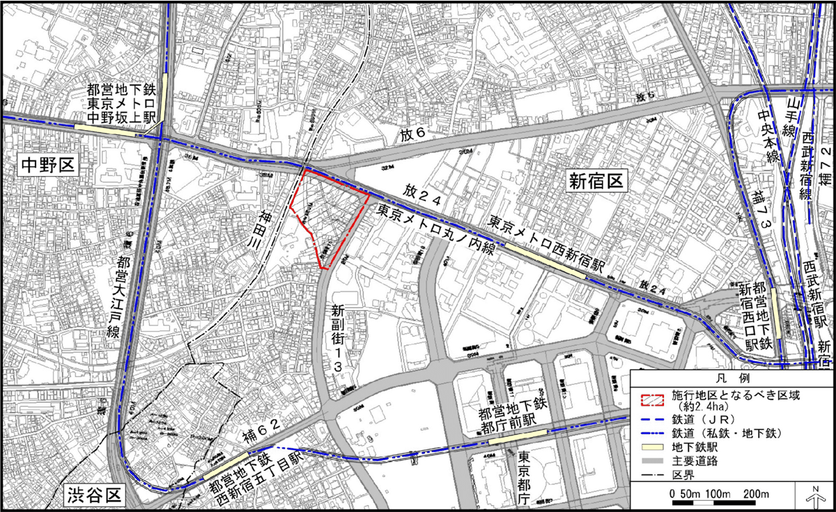 本地区の街区図